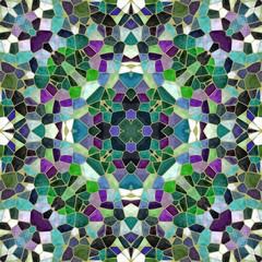 Green kaleidoscopic mosaic