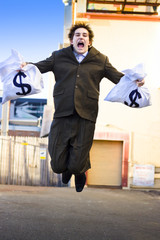 Business Man Winning Business Deals