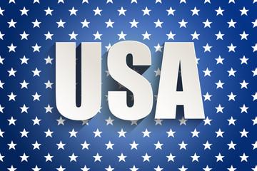 Illustration of USA symbols
