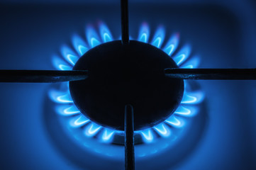 flaming gas burner
