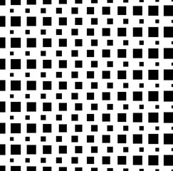Pattern, background with monochrome squares. Vector art.