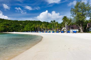 Beautiful tropical beach at exotic island