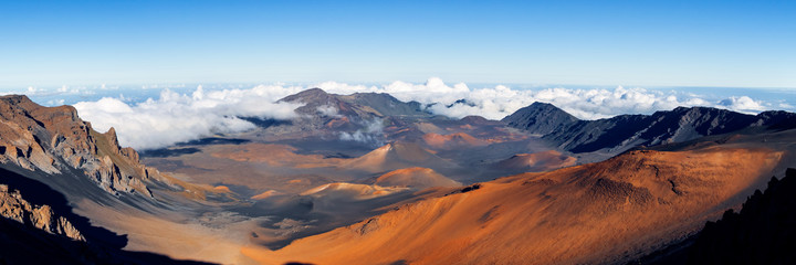 Panoramic view of Haleakala crater, Maui Hawaii