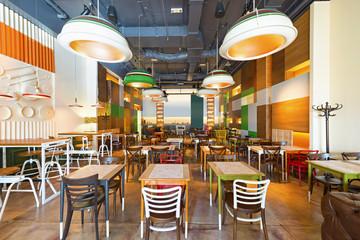 Interoir of a modern restaurant