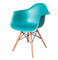 Modern blue chair (stool) isolated