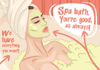 woman spa treatments poster