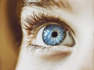 insightful look blue eyes boy