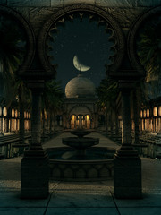 The Magic of the Orient by Night, 3d CG
