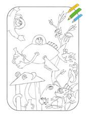 Coloring book Atlantida