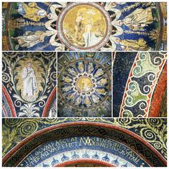 Mosaics of The Baptistry of Neon. Ravenna, Italy