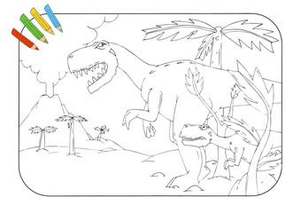 Coloring book Tyrannosaurus