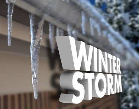 Winter Storm Icicles Snow Weather Warning Freezing Temperature