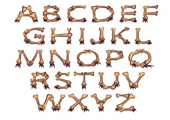 alphabet with bones
