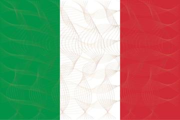 Flag of Italian in art design illustrator vector ESP 10