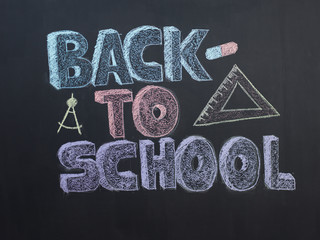 Welcome Back To School Typographical Background On Chalkboard Wi