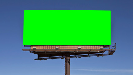 Chroma Key Green Billboard