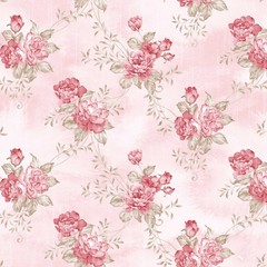 Door stickers Vintage Flowers flowers seamless pattern - For easy making seamless pattern use it for filling any contours