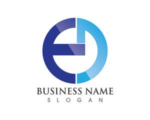 E D logo letter combination logo