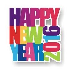 Greeting Card Happy New Year Design Illustration 2016