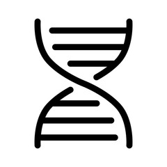 DNA molecule structure line art icon for app and website