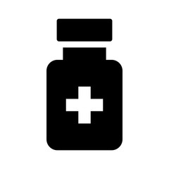 Medication drug bottle flat icon for apps and websites