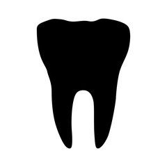 Tooth (molar) flat icon for app and website