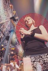 Woman Holding Parasol