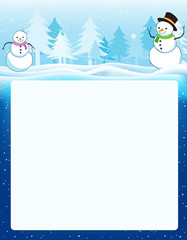 Winter background  / frame