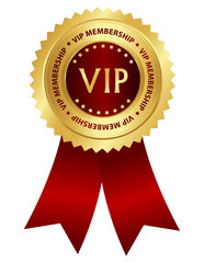 VIP membership award ribbon rosette