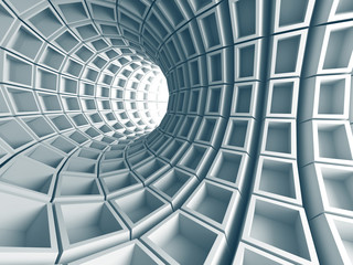 Fototapeta Abstract Architecture Tunnel With Light Background obraz
