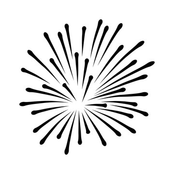 New Years or Independence Day fireworks flat icon