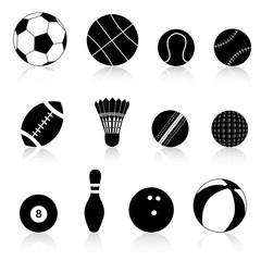 Sport ball silhouette