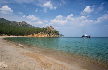 Sandy cove of Lake Baikal