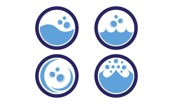 Laundry Icon With Five Colors Options