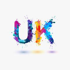 UK abbreviation. Splash paint