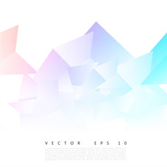 Vector Abstract geometric shape from gray triangle