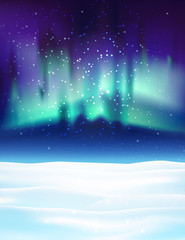 Northern lights background vector illustration.