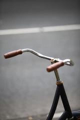 Parked bicycle handlebar