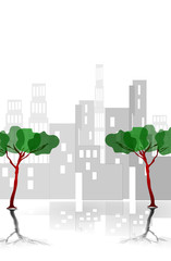 Alberi e grattacieli