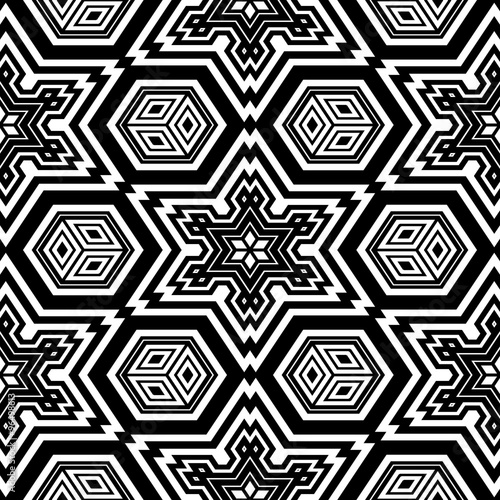 Geometric design coloring page (blank page of adult coloring book ...