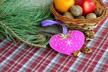 Handmade felt Valentine's day heart