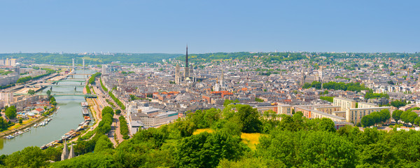 Panorama of Rouen