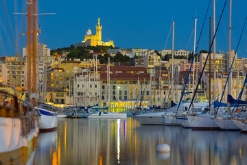 Yachts in the Marseille port