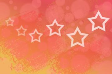 White stars on blurred background