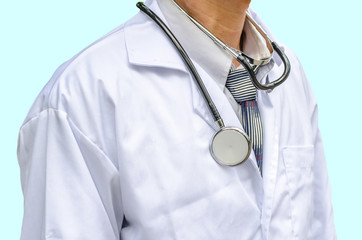 Close-up doctor with stethoscope