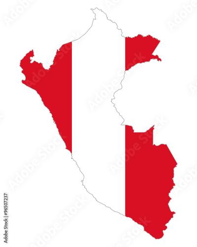 Peru Karte.Karte Und Fahne Von Peru Stock Image And Royalty Free Vector Files