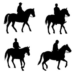 horsemen silhouettes - vector