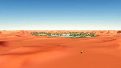 Wüstenlandschaft mit Oase