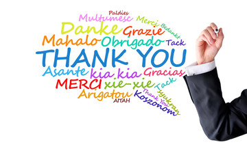 Thank you message in different languages