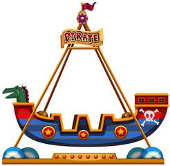 Viking ride in carnival